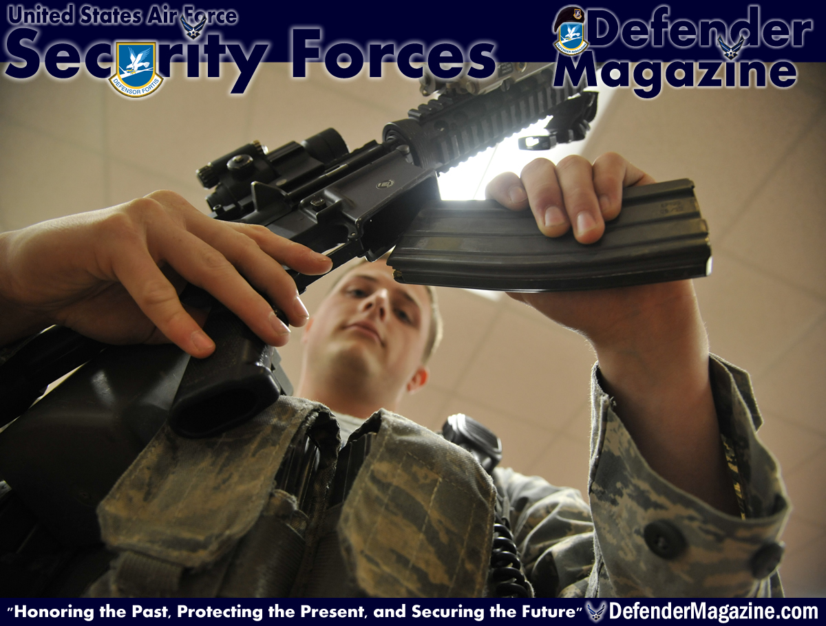 whiteman afb sword and shield usaf defender magazine u s air force senior airman matthew hinson 509th security forces squadron patrolman arms up for the duty day at whiteman air force base mo oct 8