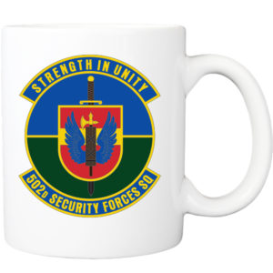 502d Security Forces Squadron Patch Coffee Mug