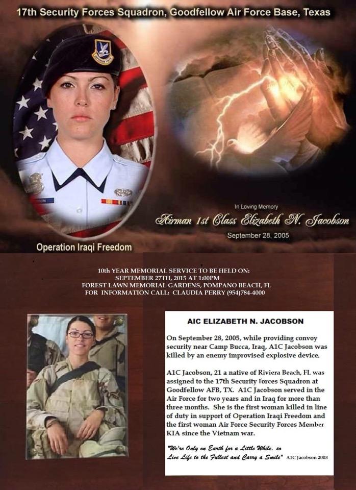 A1c Elizabeth Jacobson 10th Year Memorial Service Usaf