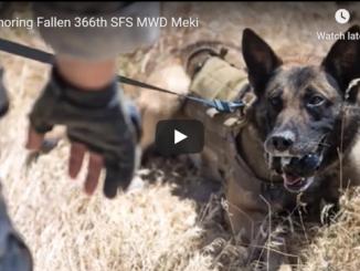 Honoring Meki, a Fallen 366th SFS MWD
