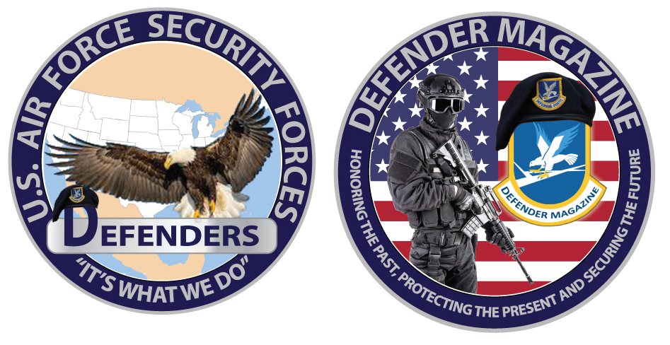 Defender Magazine February 2020 Challenge Coin